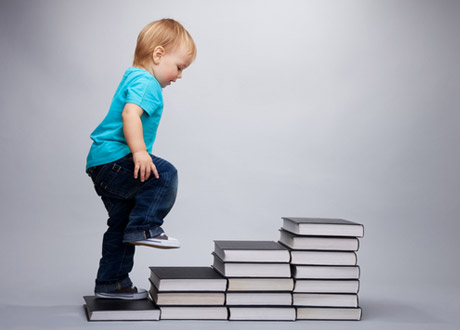 Take the first steps to literacy @ the library.