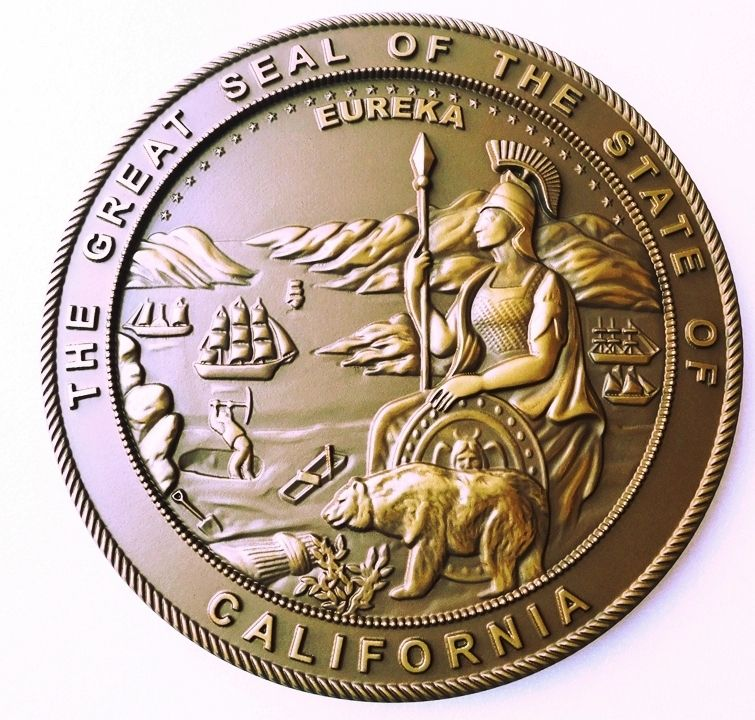MA1040 - Great Seal of the State of California, 3-D