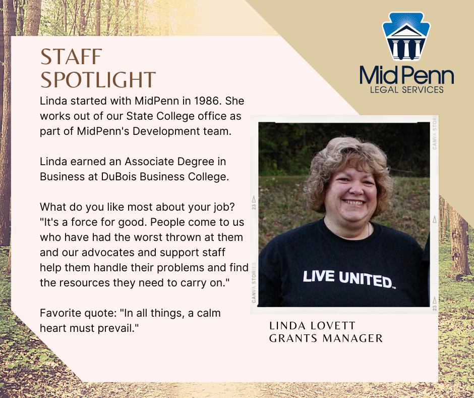 Staff Spotlight: Linda Lovett