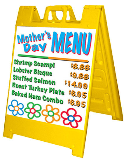 Menu Side walk sign