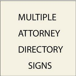 2. Directory signs for Multiple Attorneys (with Replaceable Nameplates)
