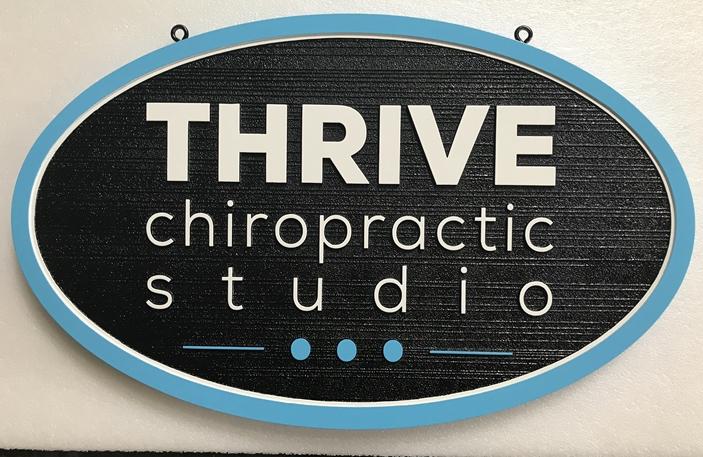 B11215 - Hanging, HDU Sign for  Doctor of Chiropractic, Chiropractic Studio