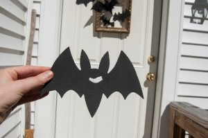 Goodwill Halloween DIY bat decor step 8
