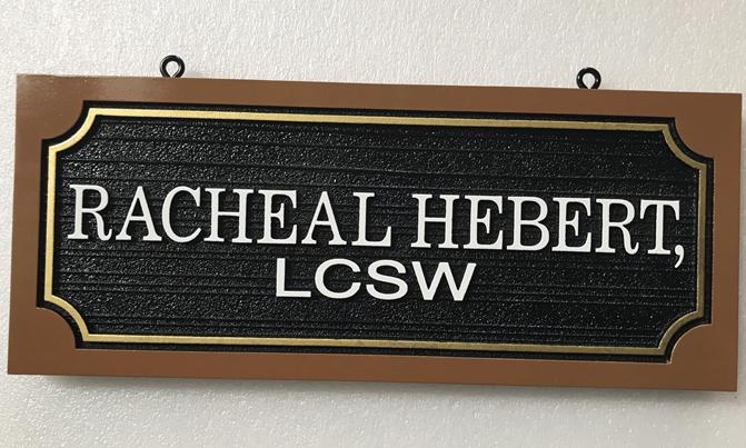 B11249 - Carved, HDU Sign for Licensed Clinical Social Worker.