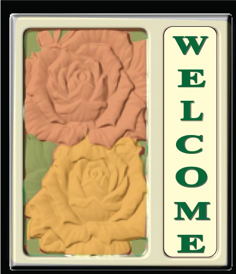 I18242 - Carved 3-D Welcome Residence Sign with Roses