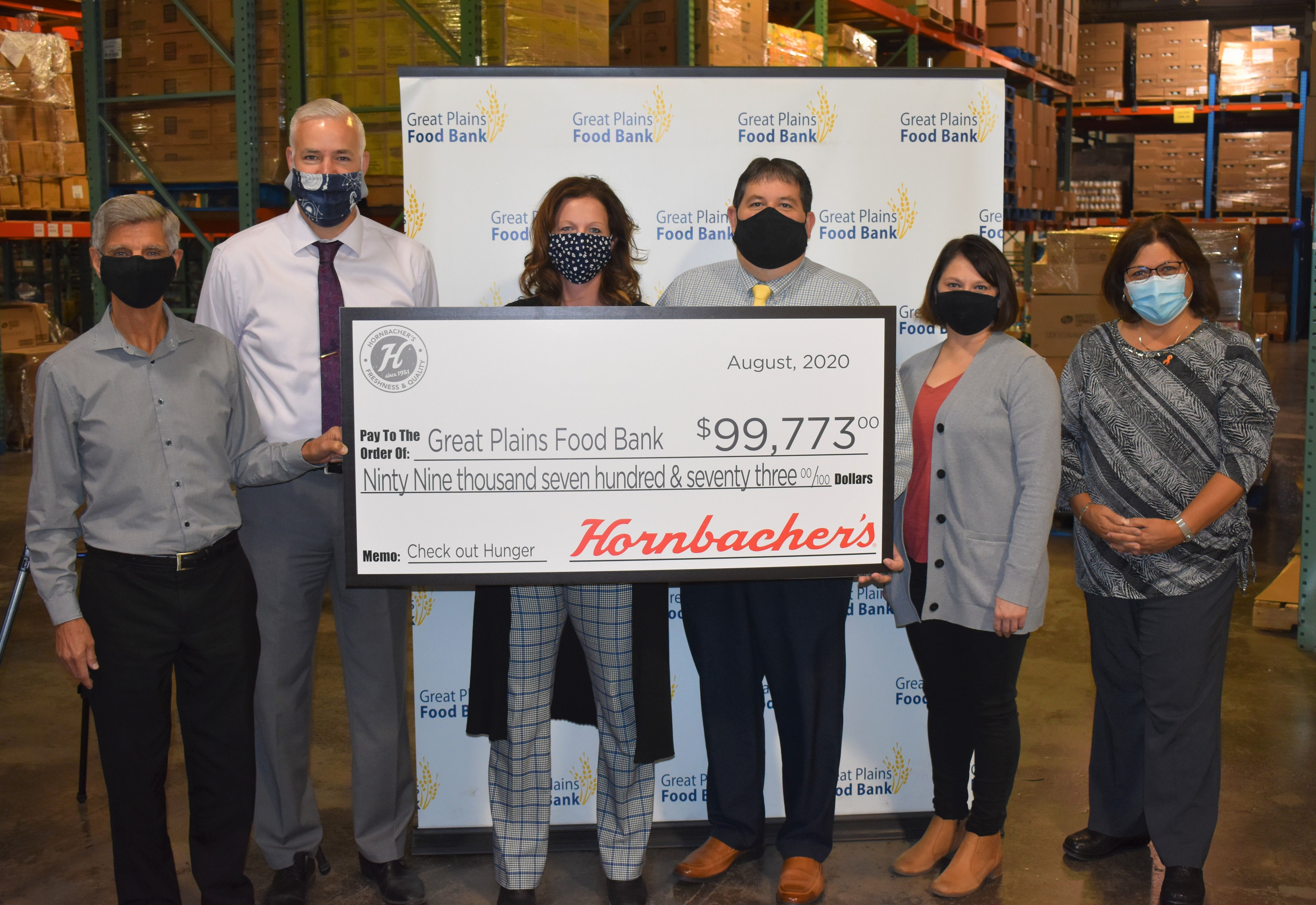 Hornbacher's marks Hunger Action Day with a record near $100,000 donation to the Great Plains Food Bank through annual Check Out Hunger campaign