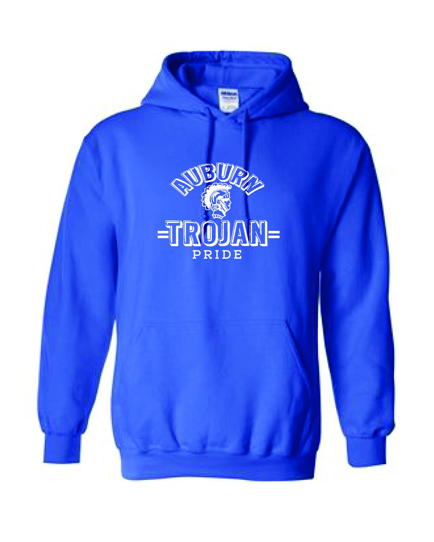 Auburn Trojan Pride Hoodie (Blue)