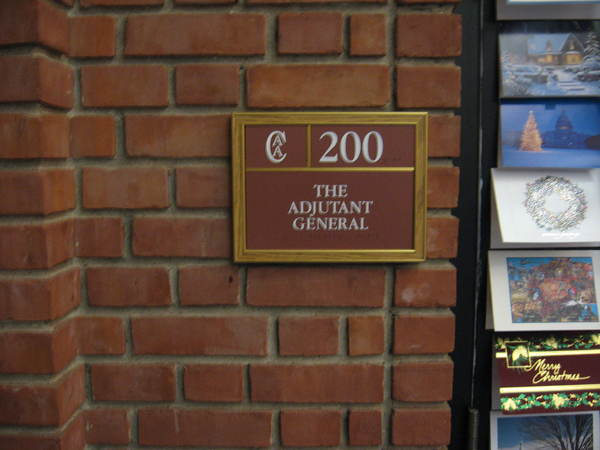 Office / Suite Signage, ADA Complient Raised Letters and Braille, Photo Polymer, Inter-Changeable Panels in Front Loading Frame, Wayfinding Project, One of Many
