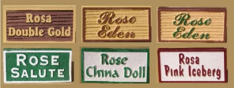 GA16660 - Wood Look and Sandstone Look Carved Signs for Plant Names (Roses)