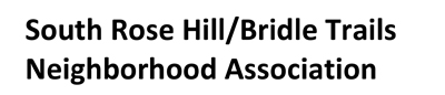 South Rose Hill-Bridle Trails Neighborhood Assoc
