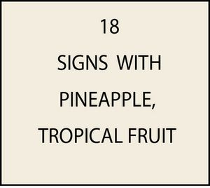 L21800 - Signs with Pineapples and Lime