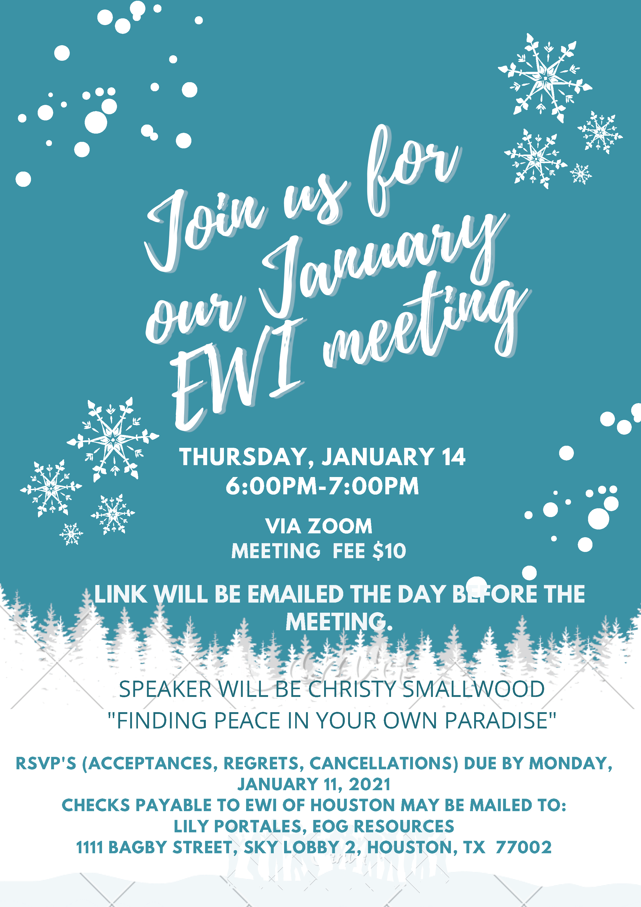 EWI January 2020 Meeting