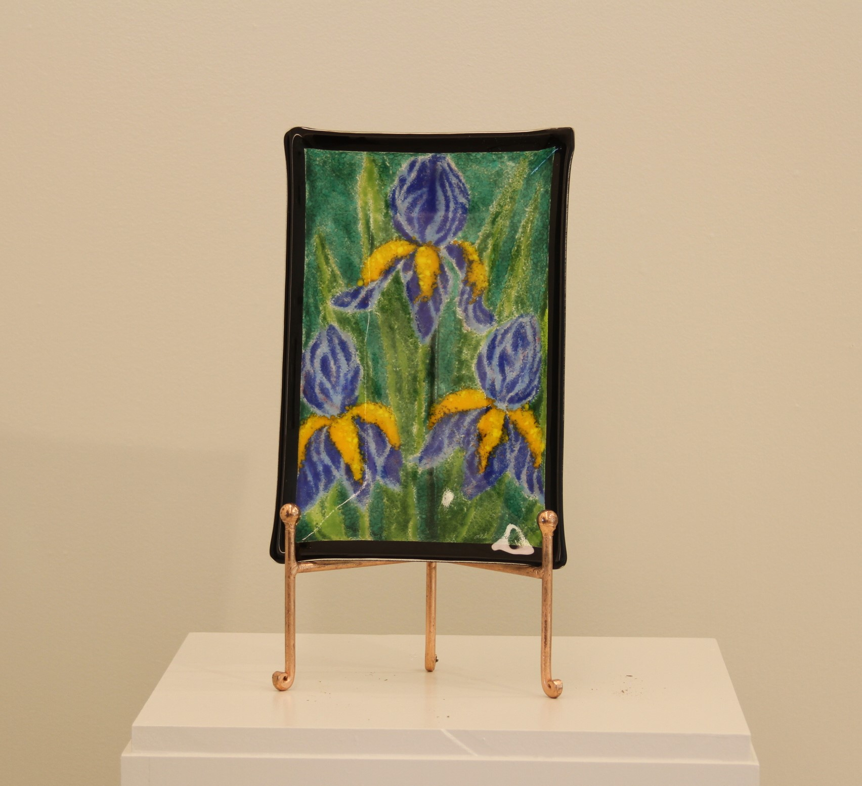 Blue Iris Black Border