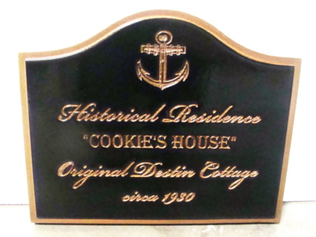 L21762 - Engraved HDU Sign for Historical House on the Seacoast