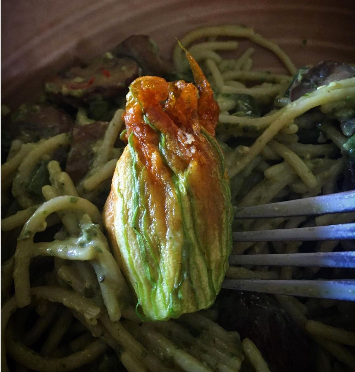 Real Food for Real People - Stuffed Zucchini Blossoms