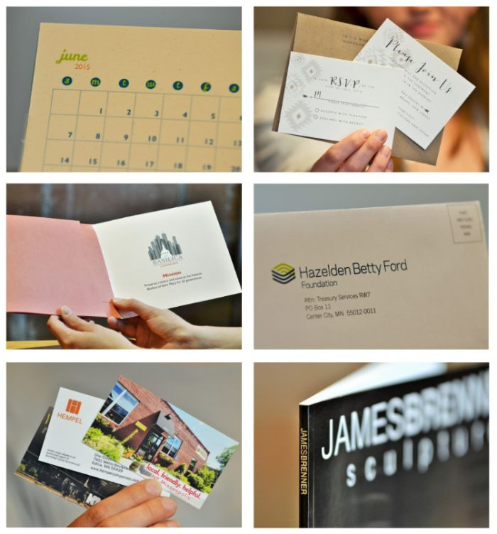 Minuteman Press Central - paper product samples