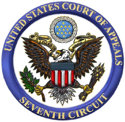 U30126 -  Carved 3-D Wall Plaque for Seal of the US 7th Circuit Court of Appeals