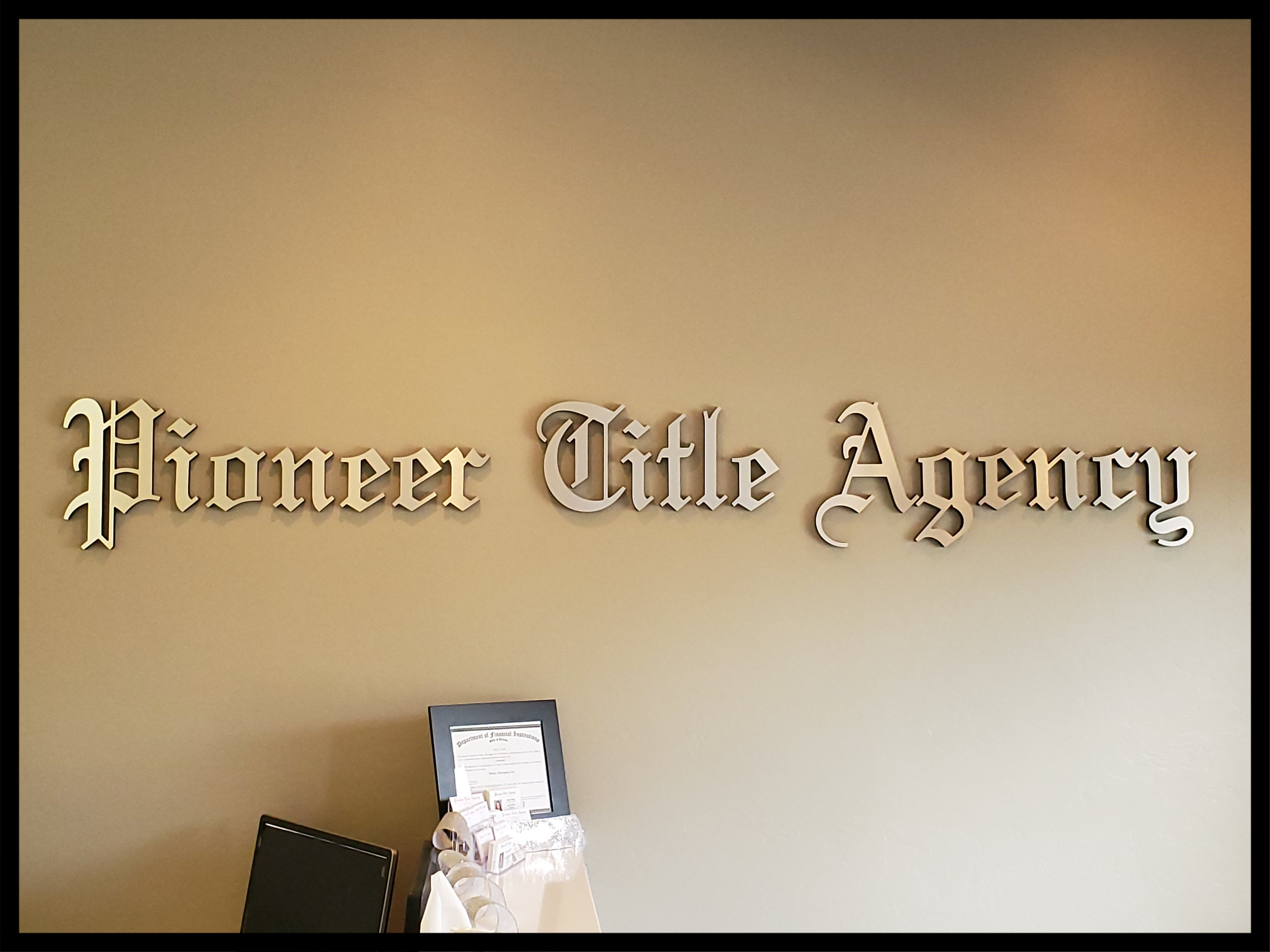 3D Lettering and Plaques