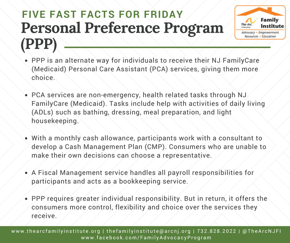 Personal Preference Program (PPP)