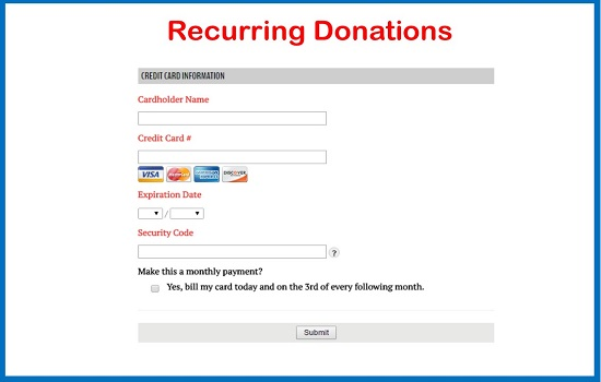 Recurring Donations!