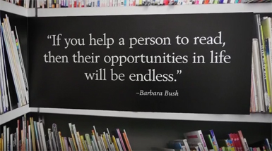 2/25/2016 - Adult Reading Center Featured in Barbara Bush Tribute