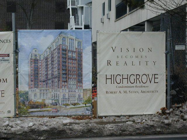 Construction site banner