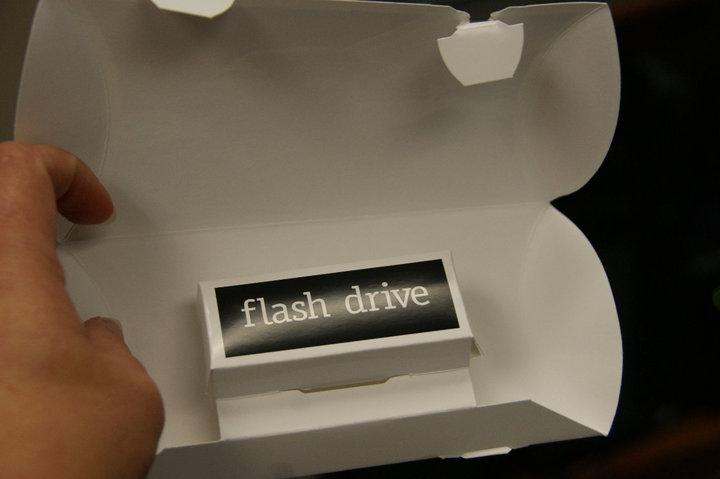 Flash Drive Mailer Inside