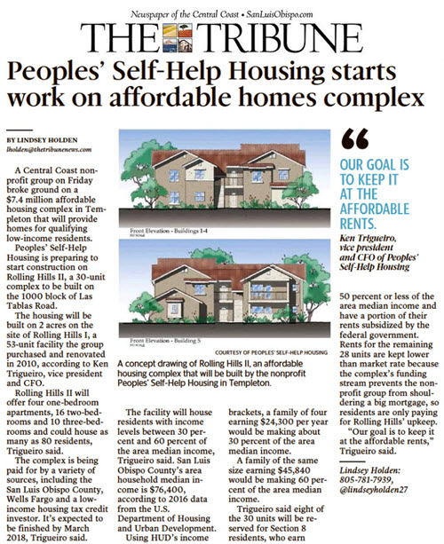 Peoples' Self-Help Housing starts work on affordable homes complex - The Tribune