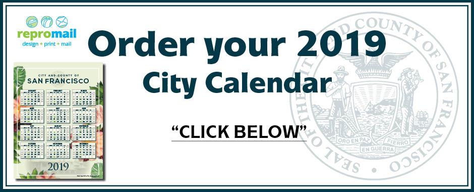 2019 CCSF Calendar Order Form