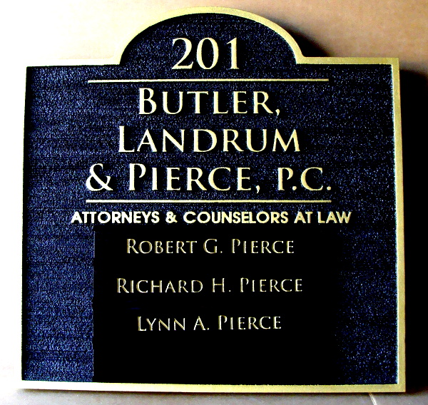A10550 - Wooden Law Office Address and Directory Sign, with List of Attorneys