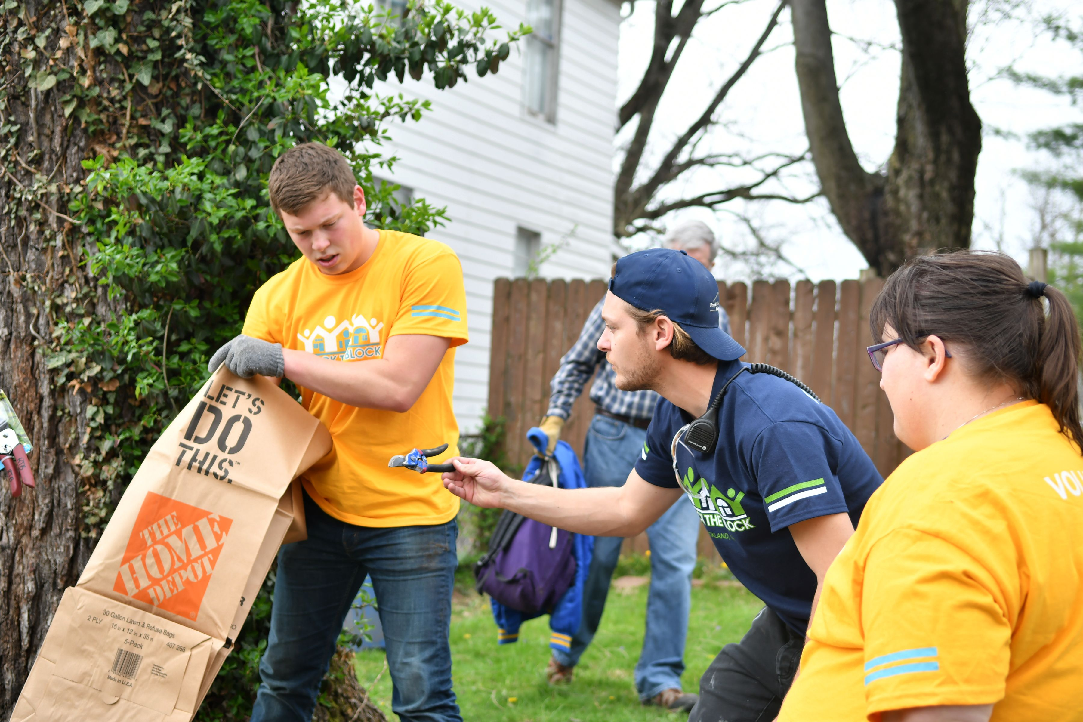 Volunteer crew at Rock the Block Lockland April 2018