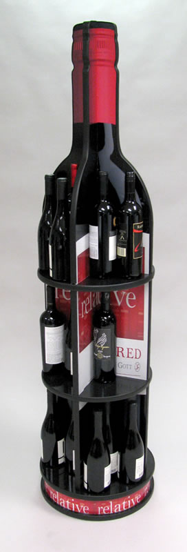 "Bottle Display - 3"" Standard Screw Cap"