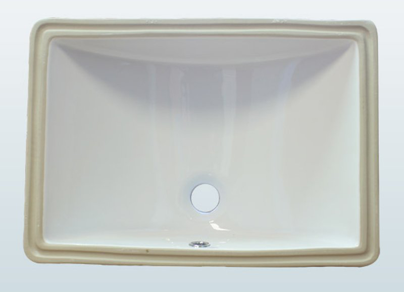 Rectangle Porcelain Vanity Sink
