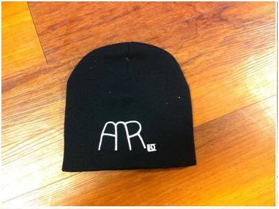 AMR Black Knit Beanie