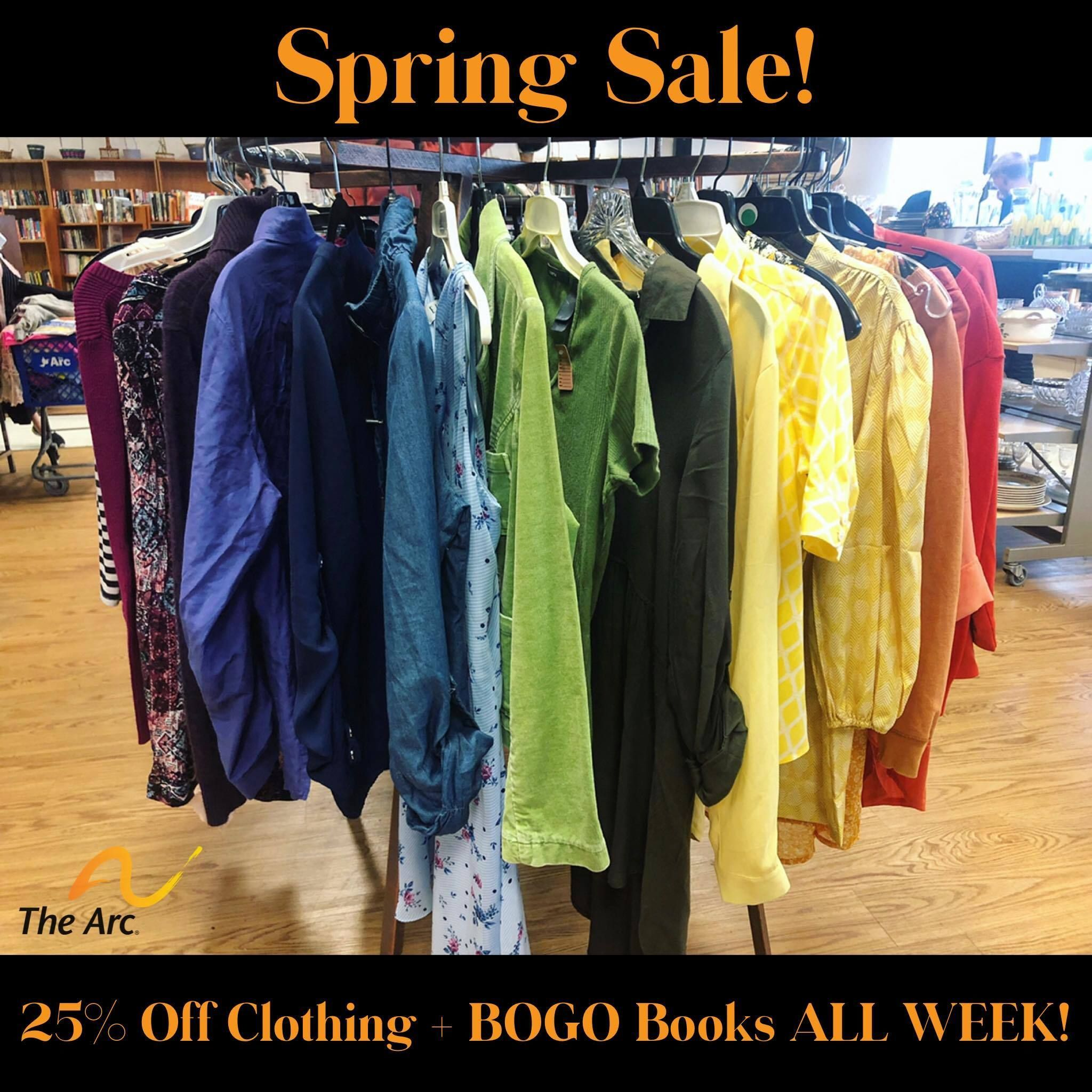 SPRING SALE @ The Arc Thrift Store & Donation Center