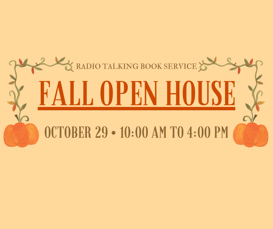 Fall Open House: October 29, 10am to 4pm