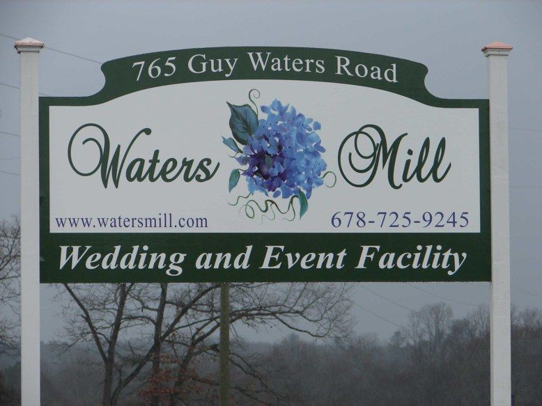 Waters Mill Custom Cut Full Color Sign