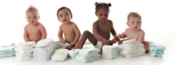 babies and diapers