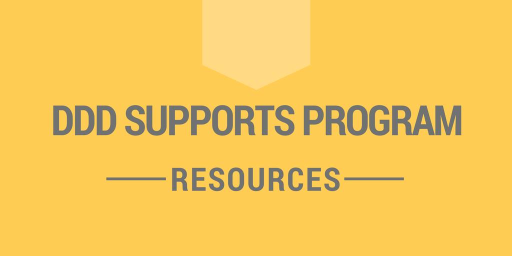 DDD Supports Program - Resources