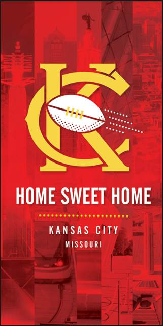 "15""x36"" Home Sweet Home Chiefs Banner"
