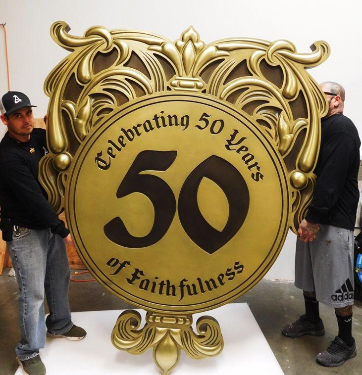MB2360 - Church Emblem,  50 Year Anniversary,  3-D