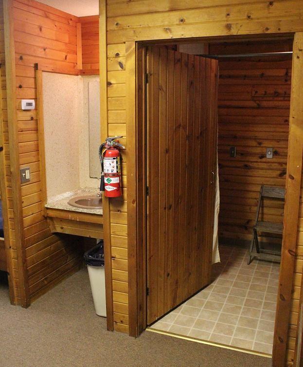 Lob Cabin Bathroom & Sink Area