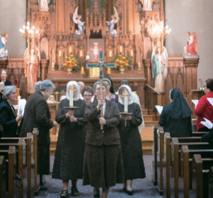 Felician Sisters in the OLSH Chapel
