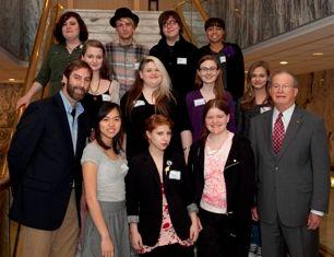 "Sen. J.T. ""Jabo"" Waggoner congratulates ASFA students"