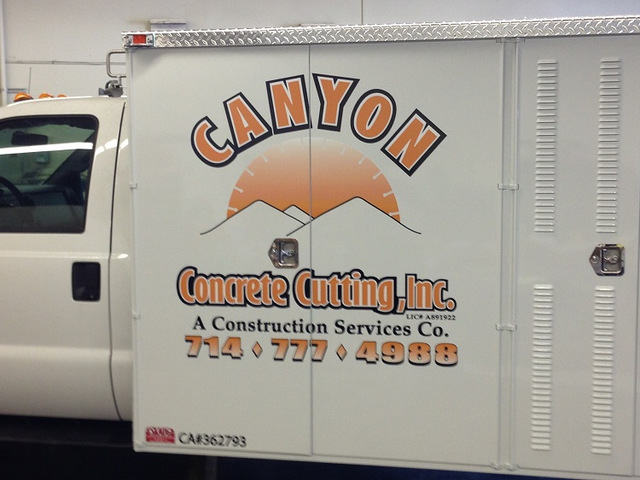Advertise with contractor truck graphics in Buena Park CA