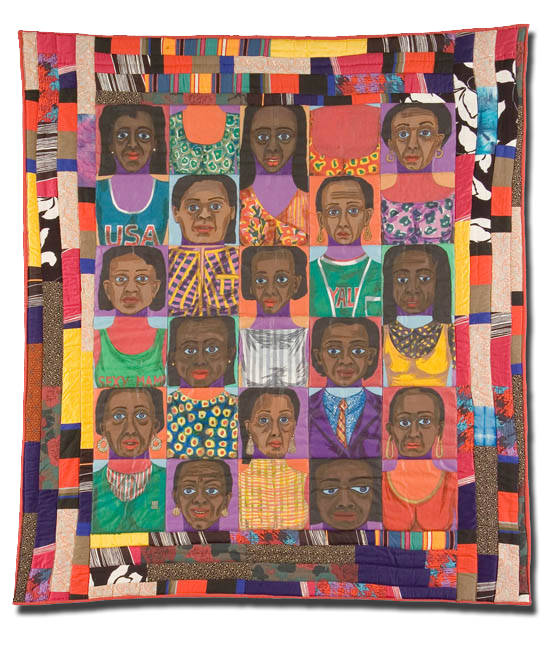 The Women: Mask Face Quilt #1, Made by Faith Ringgold, Made in New York, New York, United States, Dated 1986, IQSC 1997.007.1082