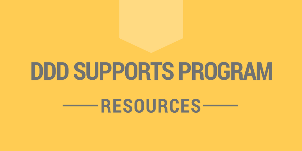 DDD Supports Program - Resources