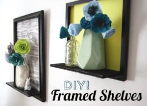 DIY Framed Shelves from Goodwill