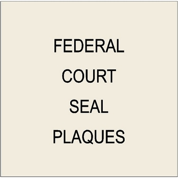 Federal Government Round Seals Carved Wood Wall Plaques - Human plaque dot map us
