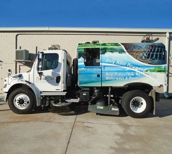 Wrap on a Street Sweeper